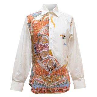 Etro Men's White & Patterned Shirt