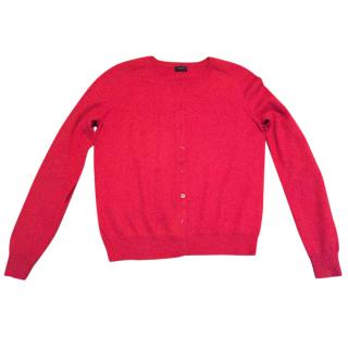 Joseph Cashmere Cardigan in Red