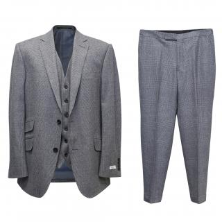 Richard James Grey Checked Three Piece Suit