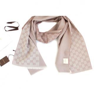 Gucci Monogram Woolen scarf