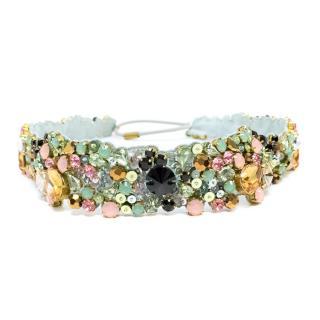 Jenny Packham Multi-Coloured Jeweled Headband