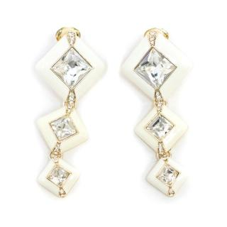 Jenny Packham White Drop Earrings
