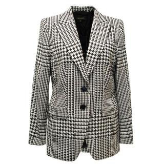Escada Black & White Houndstooth Print Blazer