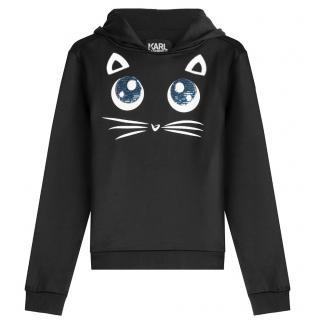 Karl Lagerfeld Black Cat Hoodie