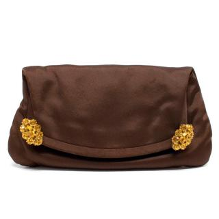 Jenny Packham Dark Brown Clutch