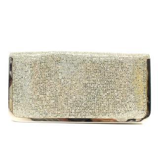 Jenny Packham Gold Glitter Clutch