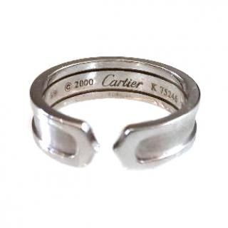 Cartier C Ring in White Gold