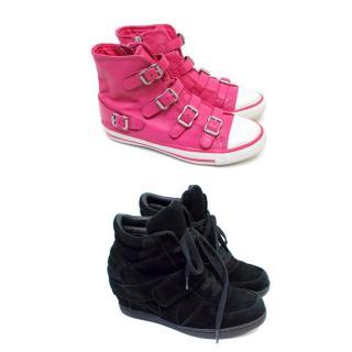 Ash Girls Black Wedge Trainers & Pink High Tops