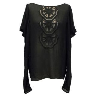 Temperley London Black Silk Shirt