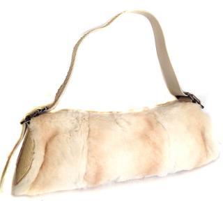 Tod's Fur cream handbag