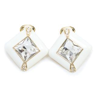 Jenny Packham White Drop Earrings