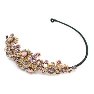 Jenny Packham Crystal & Pearl Floral Headband