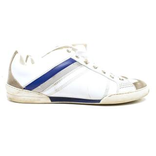 Dior White & Taupe Suede Trainers