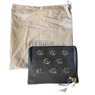 Uterque embellished clutch bag with chain