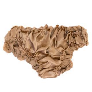 Jenny Packham Nude Silk Ruched Bikini Underwear