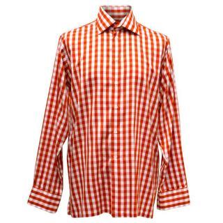 Richard James White & Red Checked Shirt