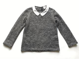 Sandro Tweed Top with White Collar