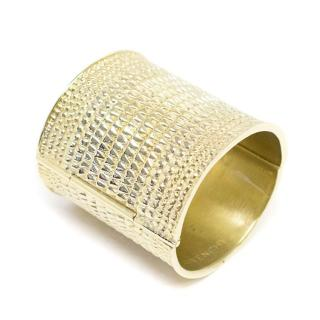 Givenchy Gold Tone Cuff with Embossed Texture
