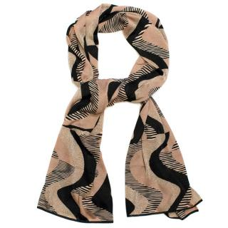 Missoni Black & Beige Patterned Scarf