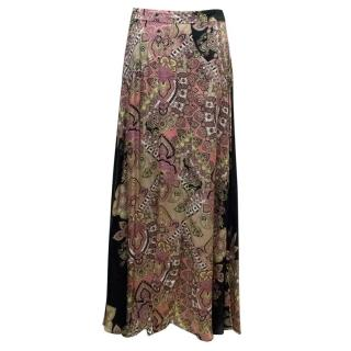 Adriana Degreas Silk Patterned Skirt