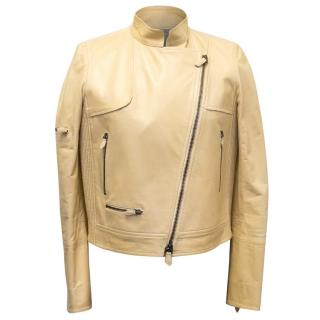 Reed Krakoff Cream Calf Leather Jacket