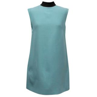 Valentino Teal Shift Dress with Black Bow