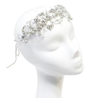 Jenny Packham Silver Headdress with Crystals