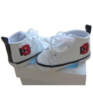 Ralph Lauren white baby shoes