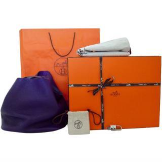 Hermes Picotin lock purple bag 26cm GM