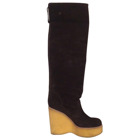 See by Chloe brown over the knee boots