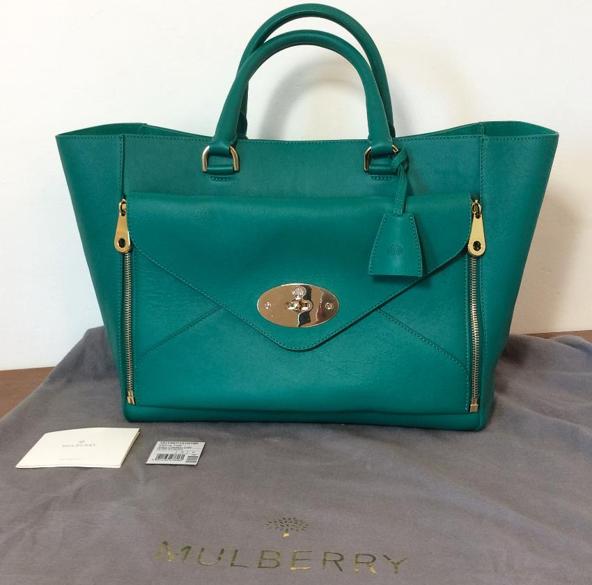 beea90c39b MULBERRY Emerald Willow Tote Large Size. 26. 12345678910