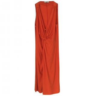 Moschino Orange Draped Dress