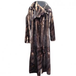 Fendi full length mink coat