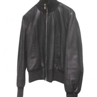 Gianfranco Ferre Leather Bomber Jacket