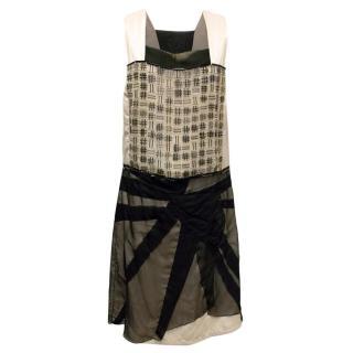 Bottega Veneta Black & Champagne Dress