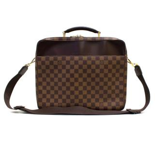 Louis Vuitton Cross Body Briefcase in Brown Monogram Check