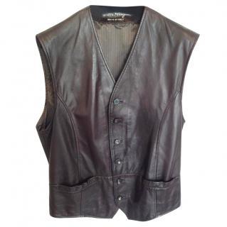 Salvatore Ferragamo Leather Vest