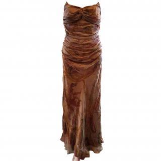 Ralph Lauren Silk Evening Dress