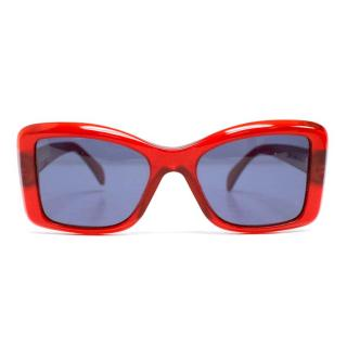 Cutler & Gross Red Square Sunglasses