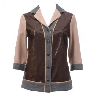 Antonio Marras Leather Panelled Jacket
