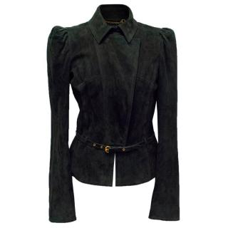 Gucci Black Suede Jacket