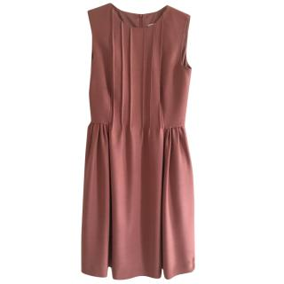 Valentino Red Dusty Pink Knee Length Dress