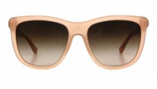 Burberry BE4130 Pink Translucent Wood Detail Sunglasses