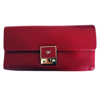 Anya Hindmarch Carker Red Long Wallet Purse w/Strap