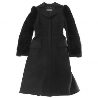 Alberta Ferretti Cashmere & Fur Coat