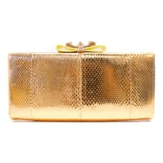 Christian Louboutin Metallic Rose Gold Clutch