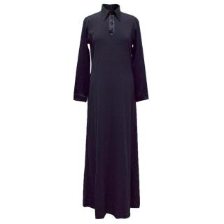 Jean Paul Gaultier Navy Blue Maxi Shirt Dress