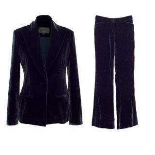Cushnie Et Ochs Plum Velvet Two Piece Suit