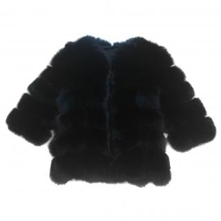 Black Fox Fur Jacket