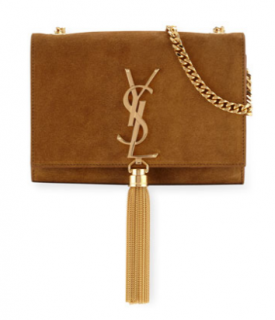 Saint Laurent classic suede monogram clutch